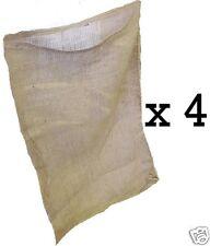 4 NEW 18x30 inch Burlap Bags, Burlap Sacks, Potato Sack Race Bags, Sandbags