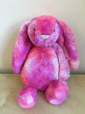 """JELLYCAT Bashful Sherbert Bunny Pink Purple Plush Stuffed Animal Baby 12"""""""