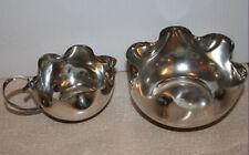 Vintage Art Deco Silver Plated Sugar Bowl & Milk Jug Set Scalloped Rim NA