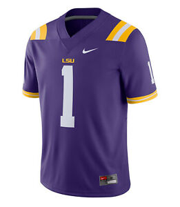 NWT! Nike Dri-Fit LSU Tigers Men's Small College Football Game Jersey AO9922-547