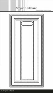 Simple and Basic Frames Slimcard w/add-on Dies Rahmen Stanzschablonen SBD123