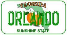 28cm x 14.5cm  ORLANDO FLORIDA METAL SIGN - LICENCE PLATE STYLE MIAMI AMERICA155