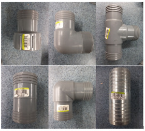 "Assorted 2"" Poly Insert Pipe Fittings - YOU CHOOSE WHICH YOU WANT"