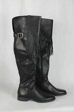 Tamaris Leder Schuhe Overknee Leder Stiefel mit Fransen Damen Gr.38,neu