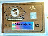 Warren Spahn #/25 Auto 2004 Donruss Timeless HOF Materials Autograph  Braves