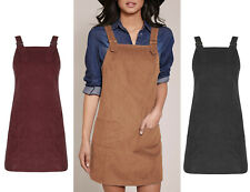 Women Casual  Straight Mini Skater Corduroy A Line Sleeveless Pinafore Dress