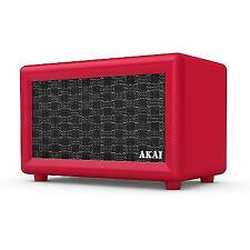 Akai A58052R Retro Bluetooth Speaker With Built-in Rechargeable Battery - Red