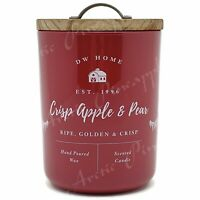 DW Home Large 15.1oz Candle 56 Hour Large Double Wick - Crisp Apple & Pear Scent