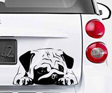 CUTE PUG DOG Lovely Vinyl Decal Sticker Car Wall Bumper Laptop Window Macbook