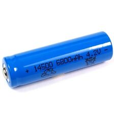 1 Batterie Li-ion 3,7 V/1300 mah Type 14500 Li Ion Taille 50 x 14 mm AA Taille