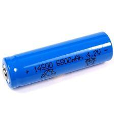 1 Lithium Ionen Akku 4,2 V  6800 mAh Typ 14500 Li ion Größe 50 x 14 mm AA Größe