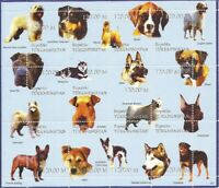 1999 Dogs Airedale Samoyed Doberman Boxer - 12 Stamp Sheet - 20D-130