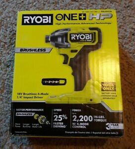 Ryobi 18V ONE+ HP 1/4 in. 3-speed 4 Mode Brushless Impact Driver, PBLID02 NEW