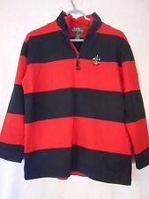 Red Blue Striped Lauren by Ralph Lauren 100% cotton Pullover Size S Bust - 21