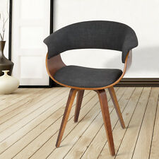 Dining Chair Bentwood Wooden Timber Kitchen Home Cafe Fabric Charcoal