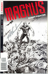 Magnus Robot Fighter #1 - Hardman Line Art Variant signed by Fred Van Lente - NM