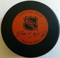 BUFFALO SABRES JOHN A. ZIEGLER GAME PUCK NHL TRENCH GENERAL TIRE SLUG VINTAGE