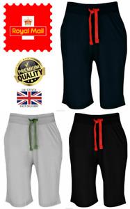 New Mens Lightweight Drawstring Waist Zip Pocket Jersey Polycotton Casual Shorts