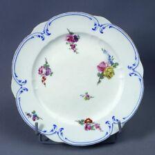 Sèvres Porcelaine Tendre Assiette A Palmes 18ème Bouquets