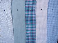 Lot Of 5 Ralph Lauren Polo Long Sleeve Button Front Shirts Mens L 2 NWOT