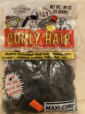 New ListingVintage One & Only Creations Curly Doll Making Hair Midnight Black Maxi Curl