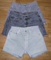 Vintage Levis Short en Jeans Taille W 25 26 27 28 29 30 31 32 33 34 36