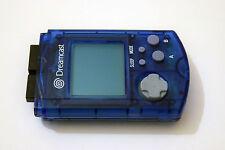 Official OEM Blue Vmu LCD Memory Card Sega Dreamcast System New Batteries