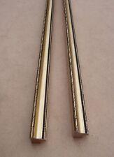 Lot de 4 anciennes baguettes en bois doré des années 1960 - longueur 66 cm
