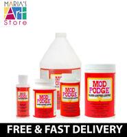Mod Podge Gloss /Matte Adhesive Glue Sealer Finish Varnish Water Based 8 16 32