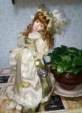 Old Green dolls collection bambola artigianale vintage in ceramica porcellana