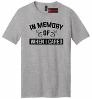 In Memory Of When I Cared Funny Mens V-Neck T Shirt Holiday Gift Graphic Tee