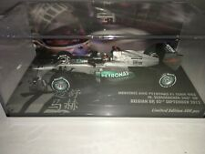 1:43 Minichamps Michael Schumacher 300th GP Mercedes W03 Belgium 2012 - 500pcs