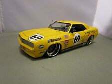 JADA 1/24 BIGTIME MUSCLE YELLOW 1969 CHEVY CAMARO SS VERY NICE *READ* NO BOX