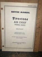 Air Chief Phono Radio, Model 4-A-31 -Service Manual- Schematics.Firestone