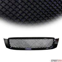 For 00-05 Cadillac Deville Blk Badgeless Bentley Mesh Front Bumper Grill Grille