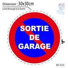 30x30 cm - PORTAIL PARKING SORTIE GARAGE STATIONNEMENT INTERDIT PANNEAU IS-03
