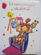 Brillante colorato Playground diapositiva SPLENDIDA figlia COMPLEANNO greeting card