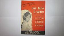 BETTY CURTIS CON TUTTO IL CUORE SPARTITO CANTO MANDOLINO ED. ADRIATICA 1958