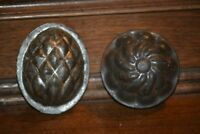 Antique Vintage Tin Food Molds - Made in England - Pineapple & Jello Styles