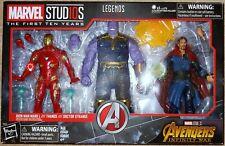 Marvel Legends Studios 3 Pack MCU The First Ten Years Thanos Dr Strange Iron Man