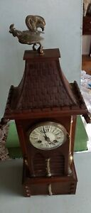 Fabulous George IV 1827 Honore Pons medaille D'or Temple/ Design Clock  Working