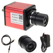 14MP TV USB Industry Digital C-mount Microscope Camera TF Video Recoder DVR+Lens