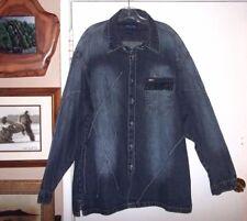 Rare KOMAN Jeans Denim Jacket Light Designer Sports Ranch Cowboy Mens M L MINT!!
