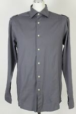 REISS Mens Grey SPRITZ Long Sleeve SHIRT - Size Large - L