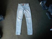 "Denim Co Skinny Jeans Taglia 8 Gamba 32"" sfumati azzurro donna jeans"