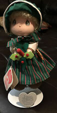 Precious Moments Doll Month December by Applause #16643, Includes PM stand
