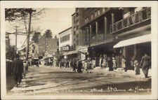 Ste. Anne De Beaupre Main St. Nice Visible Store Signs Real Photo Postcard