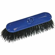 More details for scot young syr contract broom head stiff bristle blue 10.5in sweeping cleaning