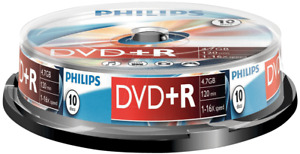Philips DVD+R | Premium Blank Recordable DVD Discs In Sleeves 4.7GB 120 Min 16x
