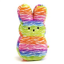 "Soft and Cuddly Peeps 6"" Plush Bunny- Rainbow"